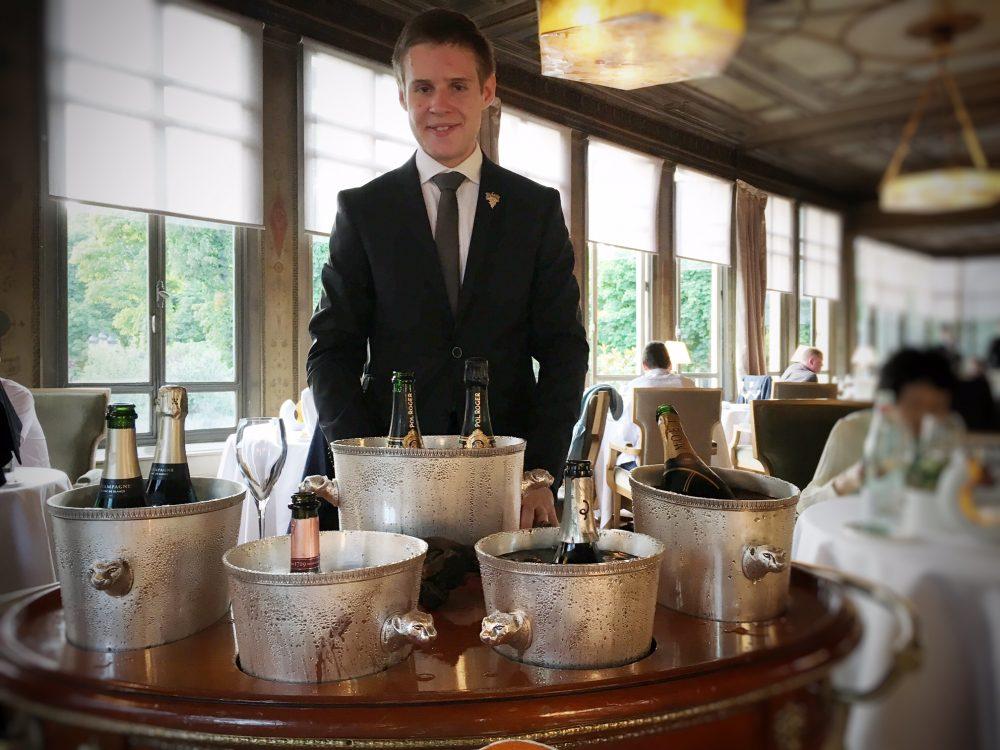 Ledoyen Pavillon, il carello degli champagne
