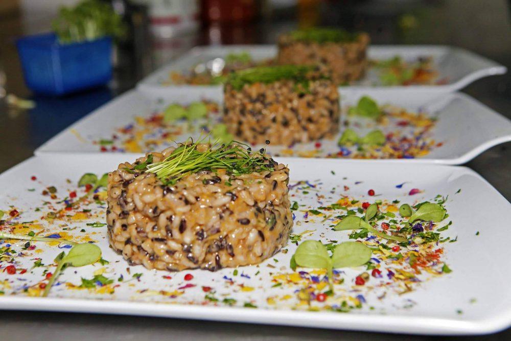 Maison Toledo - Duetto di riso, con zucca e speck, mantecato con provola affumicata d'Agerola