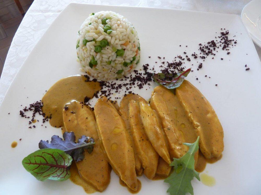 Pierino Penati, Vigano', pollo al curry con riso pilaf