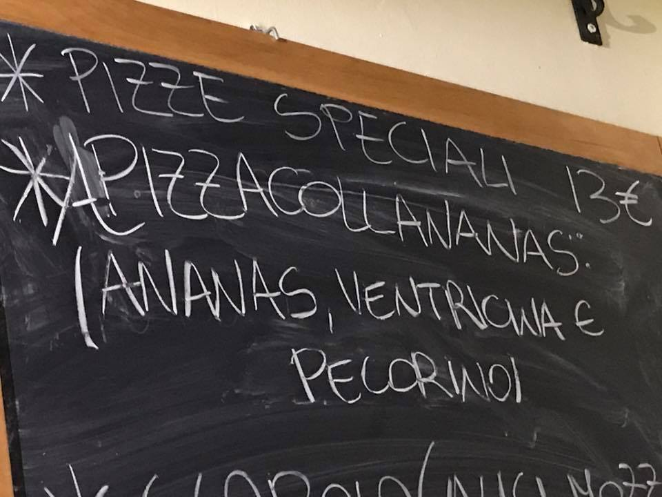 Pizza all'ananas di Callegari