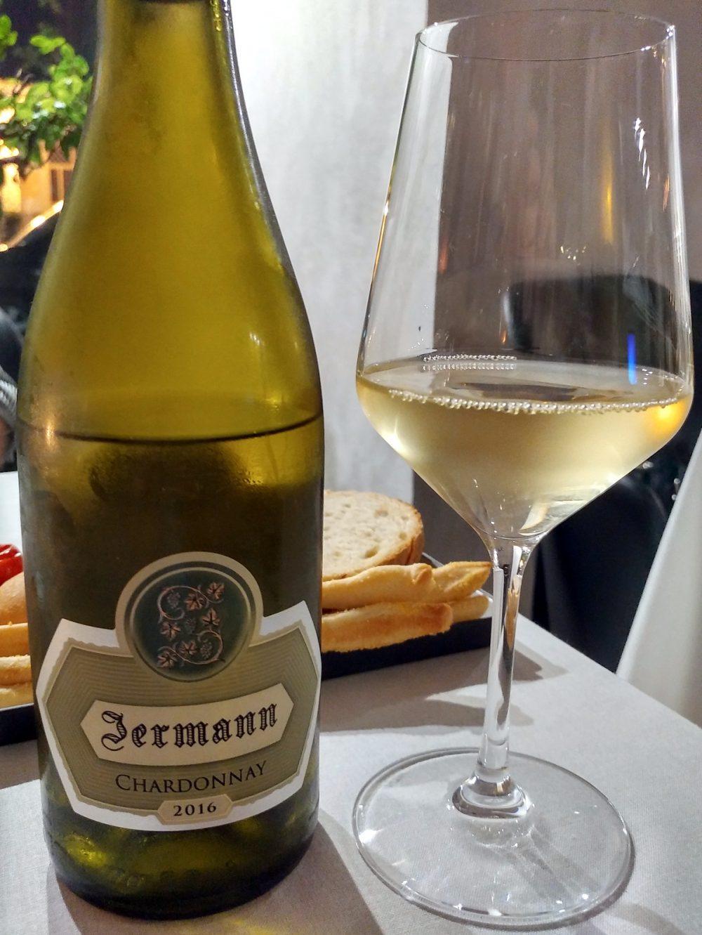 Ristorante 1Q84. Lo Chardonnay Jermann 2016