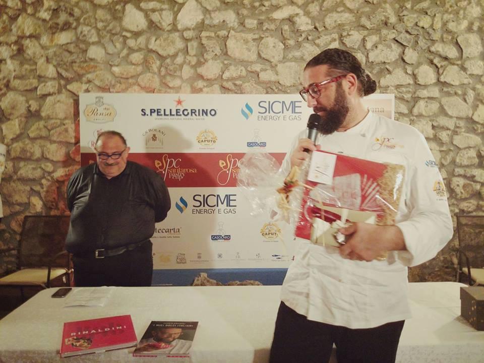 Roberto Rinaldini, membro della giuria e Peppe Iannicelli, presentatore di Santarosa Pastry Cup