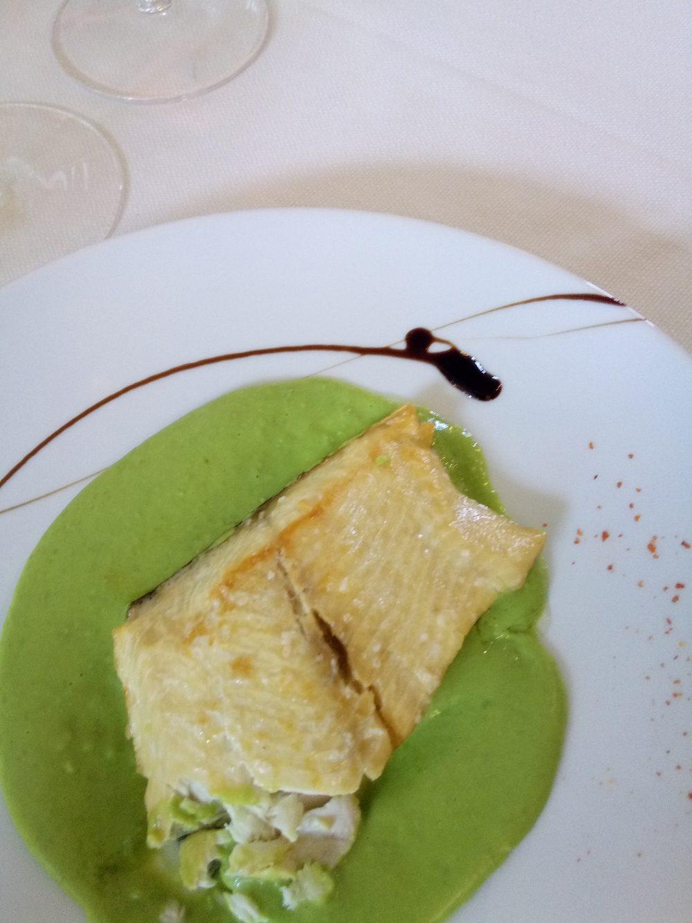 Trattoria Visconti, Filetto di salmerino con crema di piselli