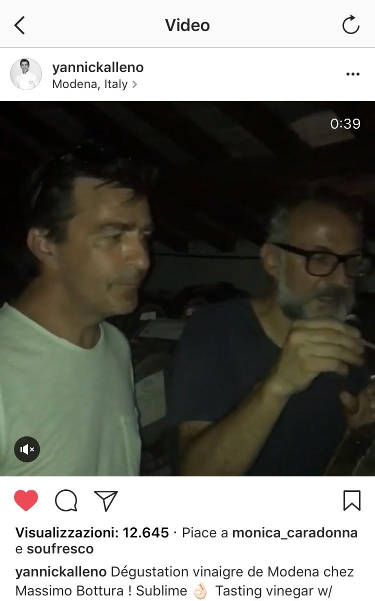 Yannick Alleno e Massimo Bottura