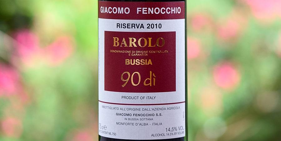Barolo Bussia 90 di Riserva 2010 – Giacomo Fenocchio