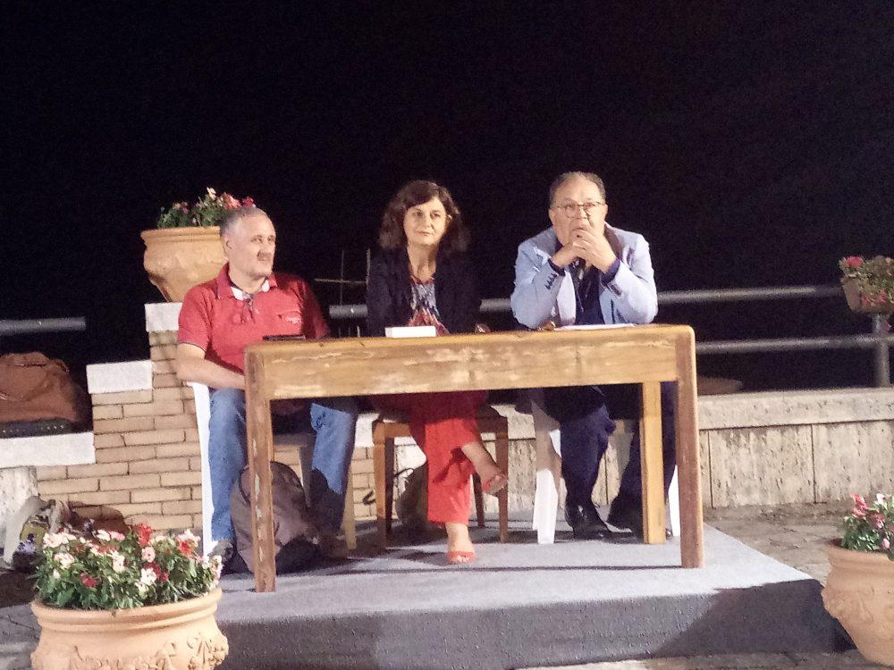 da sx Fabio Riccio, Giovanna Voria e Geppino D'Amico