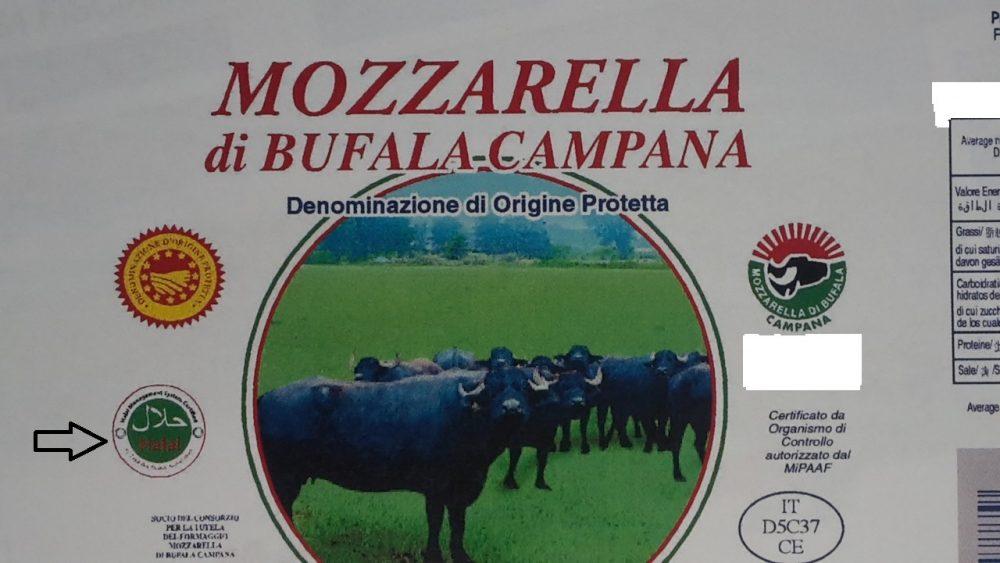 Mozzarella di bufala campana certificata halal