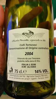 Claudio Mariotto - Colli Tortonesi TimorassoDOC Pitasso 2004