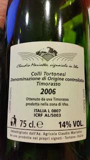 Claudio Mariotto - Colli Tortonesi Timorasso DOC Pitasso 2006