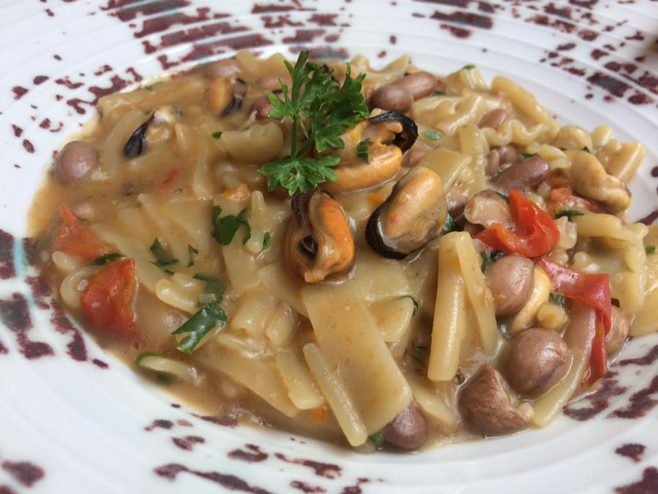 Villa Chiara, pasta e fagioli con le cozze