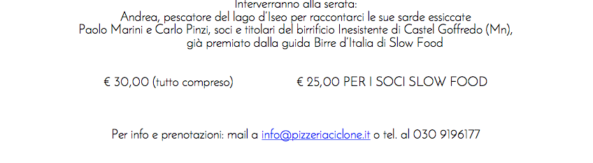 Pizza Gourmet e birra Artigianale al Ciclone
