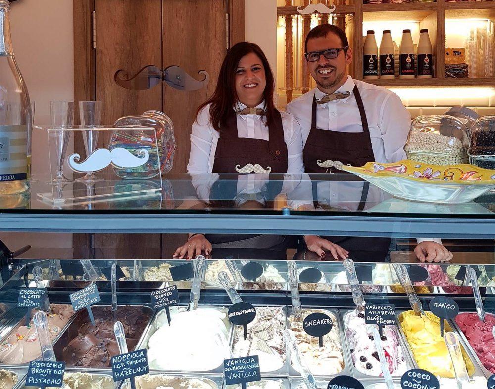 Baffone - Valentina ed Ugo D'Angelo presso la loro gelateria
