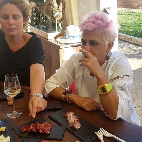 Cristina Bowerman e salumi Cancellara BioAgrimar Taste of Roma