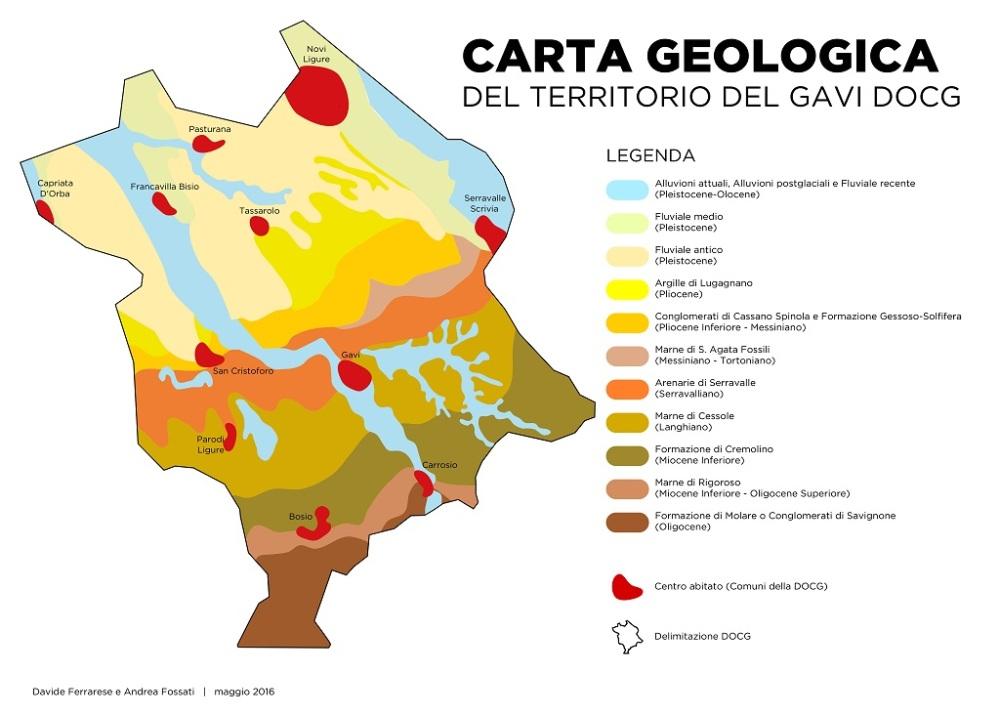 Cartina suoli, Gava Docg