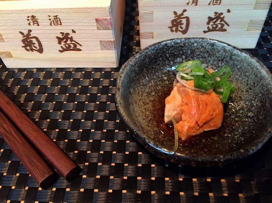 Sushi Sho - Ankimo, Monkfish Liver, Ginger, Sake e Soy