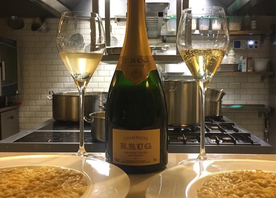 In posa La Krug GC 164eme e Il delizioso risotto agli agrumi targato Enrico Bartolini. Doppia Coppia.