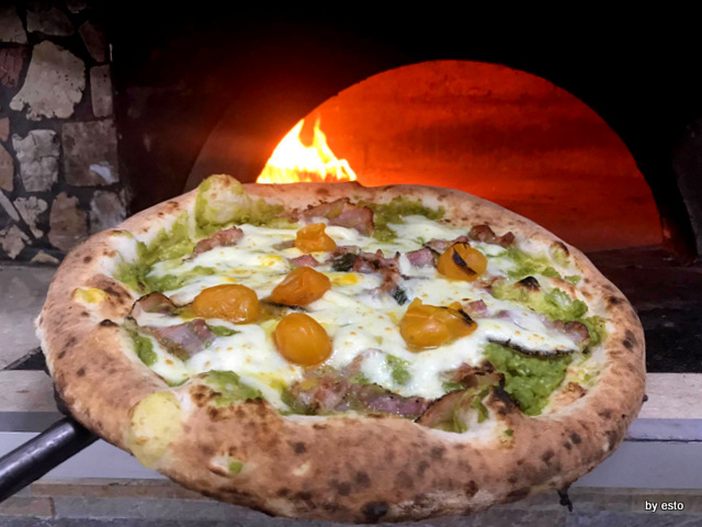 Gennypizza Gennaro Primicerio pizza piselli e pancetta