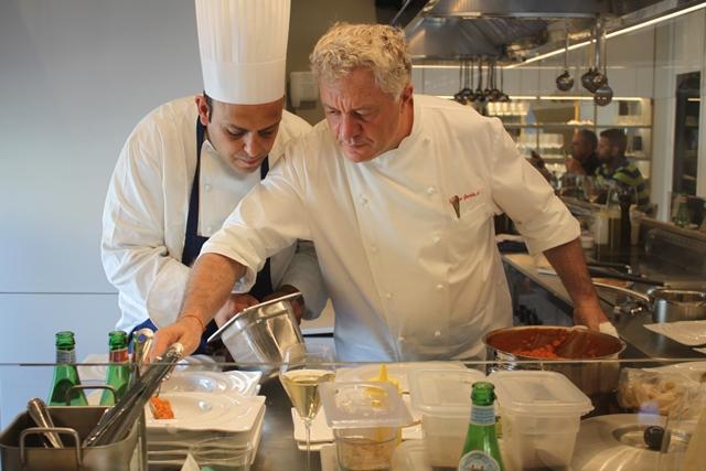 Gli chef Pierpaolo Giogio e Peppe Guida