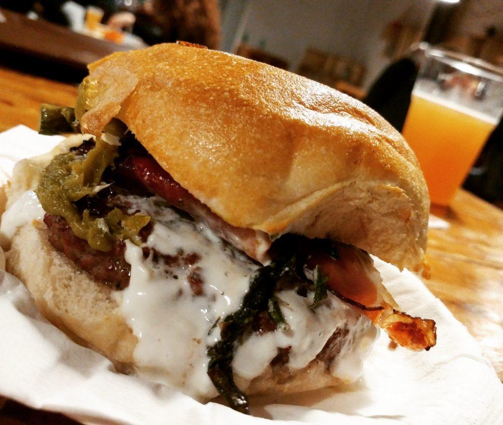 Il panino di AgriBraceria Fattoria Carpineto
