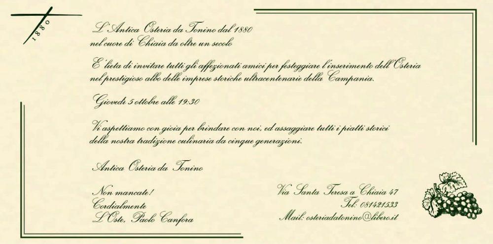 L'Osteria Da Tonino 1880