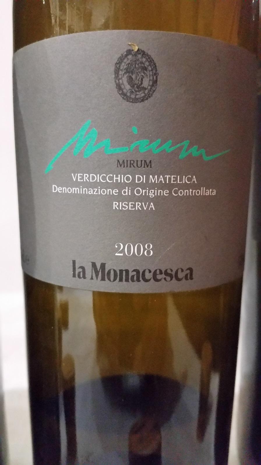 La Monacesca - Verdicchio di Matelica Mirum 2008