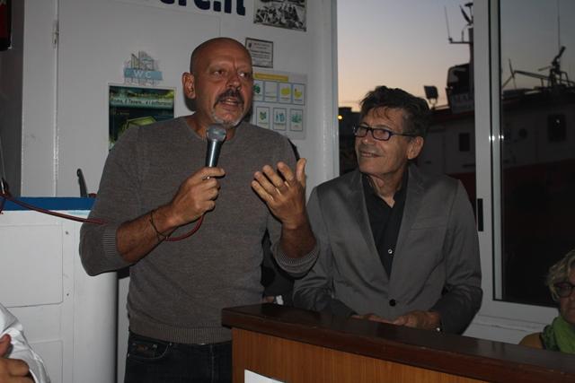 Lo chef Pascucci insieme a Luigi Cremona