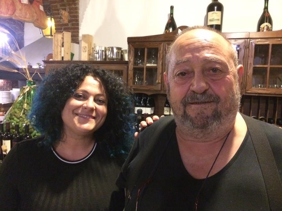 Pietrino con la figlia Claudia