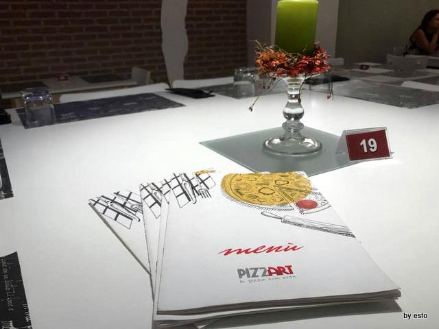 Pizz'Art Caserta la sala il menu
