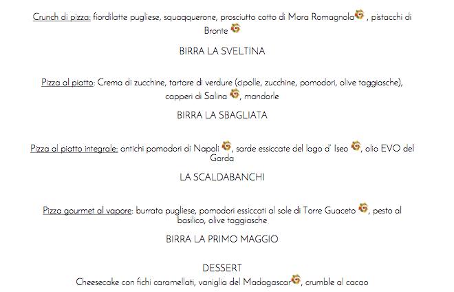Pizza Gourmet e birra Artigianale al Ciclone, piatti