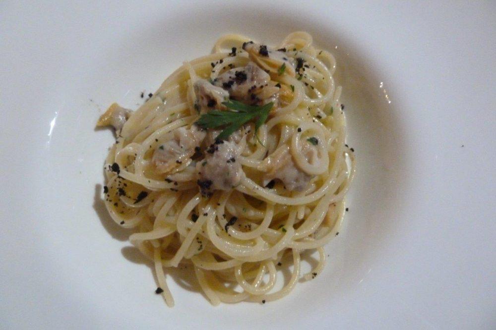 Roberto Pirelli, spaghetti vongole e olive