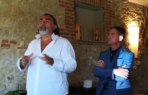 Stefano Moccagatta - Villa Sparina - e Maurizio Montobbio - Presidente del Consorzio