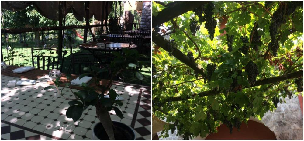 Villa Chiara, i tavoli all'aperto