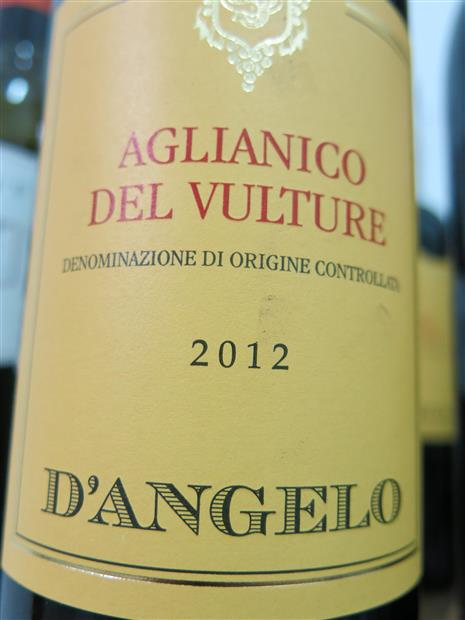 D'Angelo - Aglianico del Vulture 2012