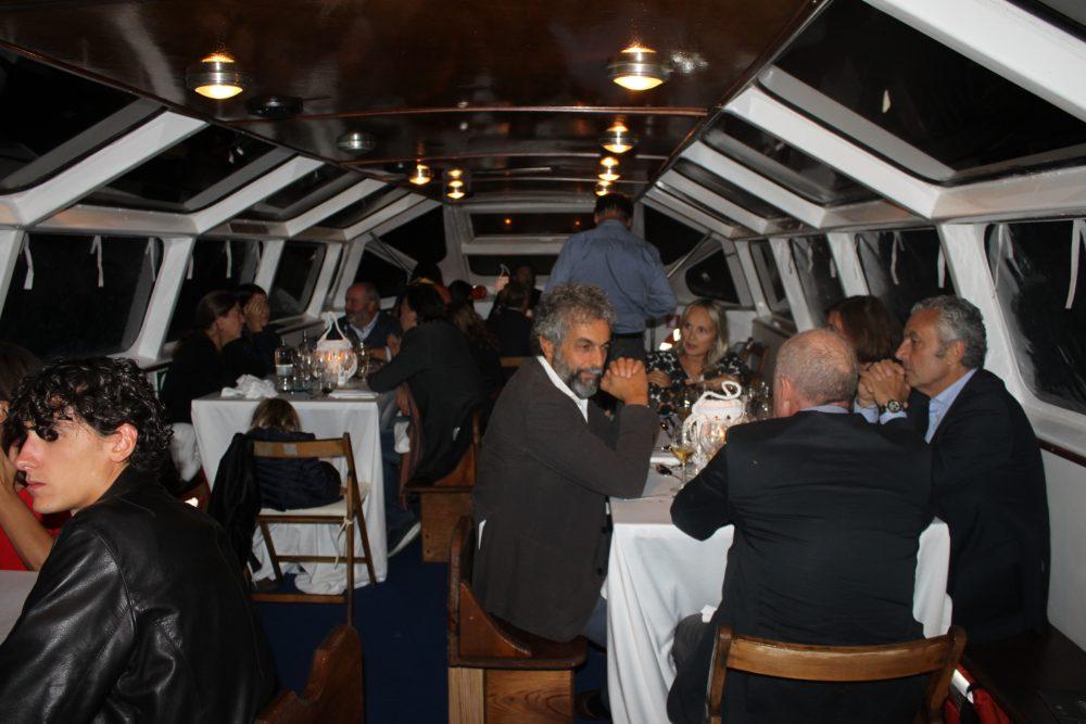 La cena sulla barca