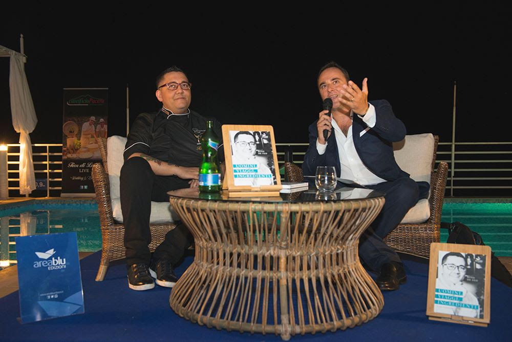 lo chef Rino de Feo e il giornalista Luigi D'Alise