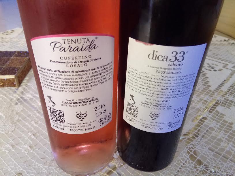 Controetichetta Vini di azienda Marulli