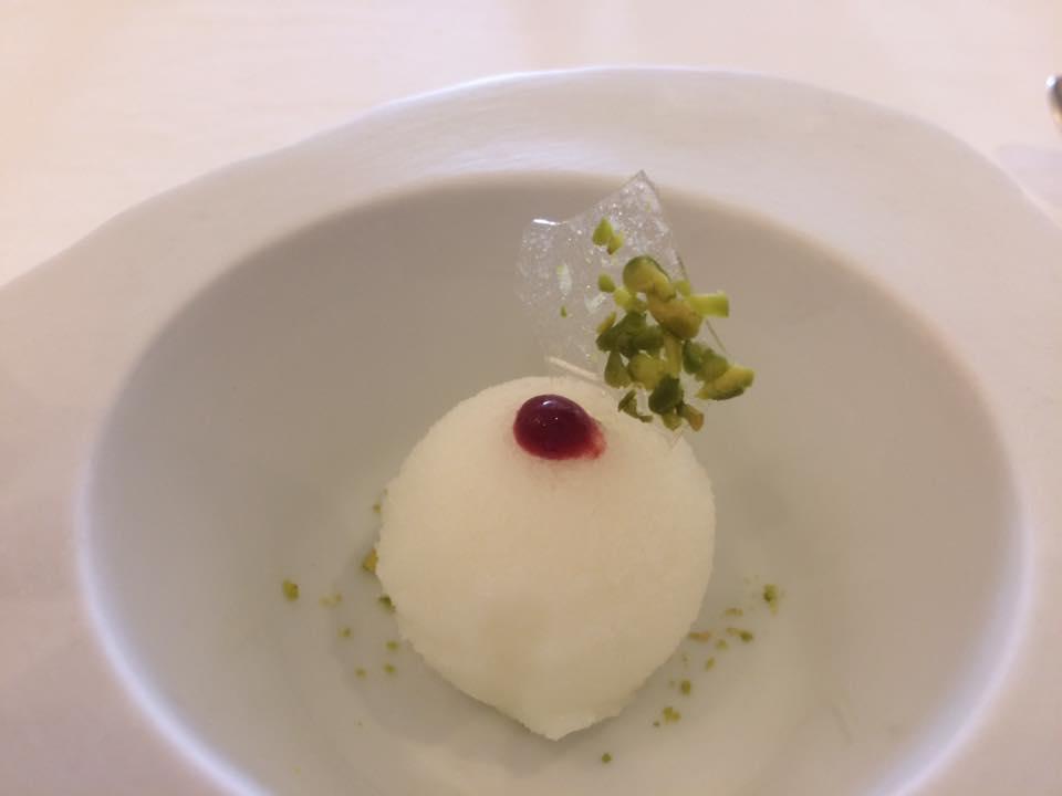 Don Alfonso, pre dessert, sorbetto al limone