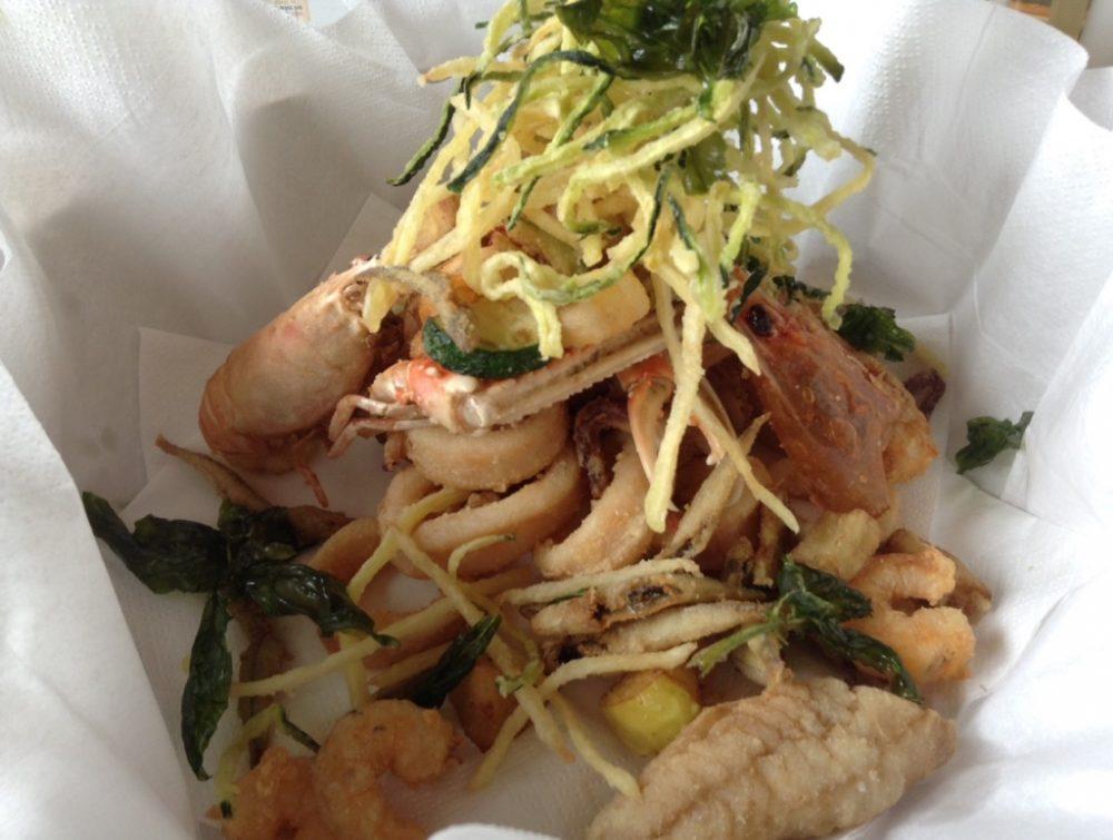 Al Vigneto, fritto di pesce e verdure
