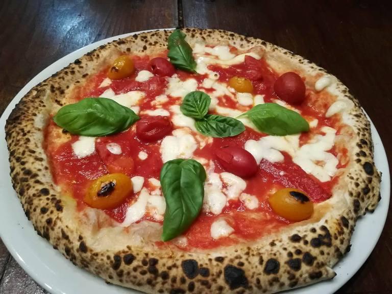 Antica Pizzeria De Rossi, la Margherita ai 4 pomodori