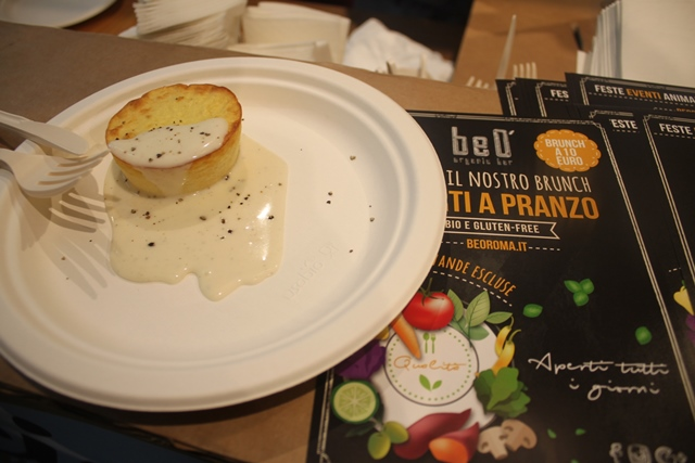 Cacio e pepe Festival da Eataly - Flan di cavolfiore di Beo Organic Bar