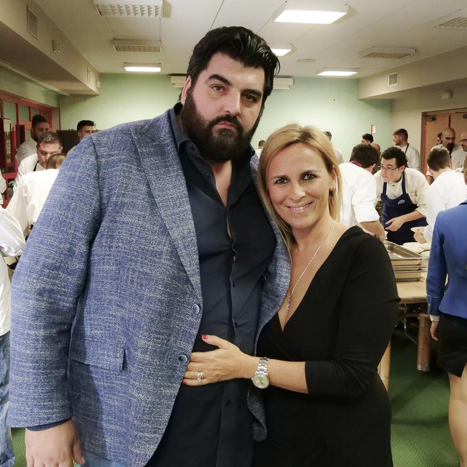 Cannavacciuolo con la moglie Cinzia