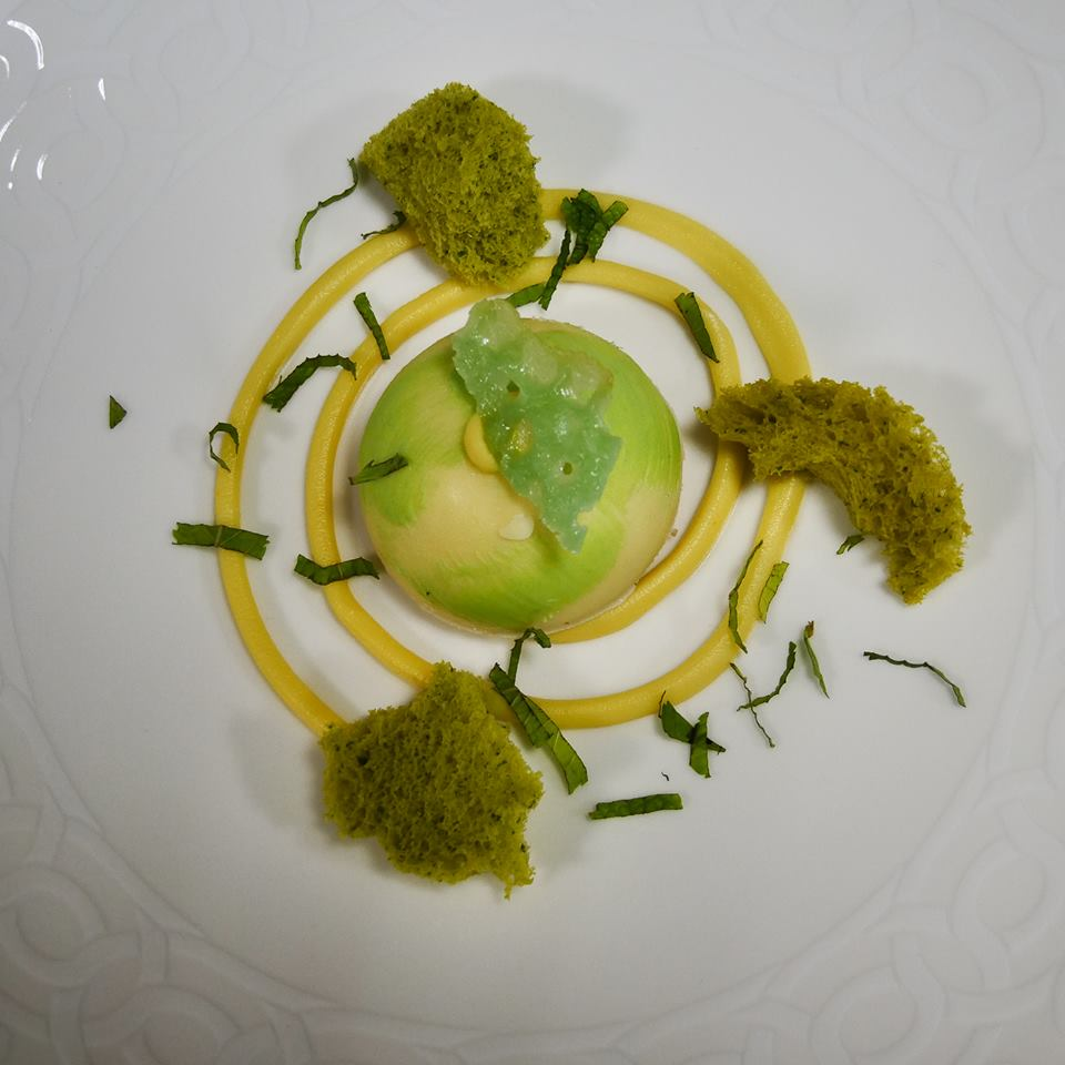 Cena de 'Le Stelle sul Lago d'Orta' - Spuma al lime