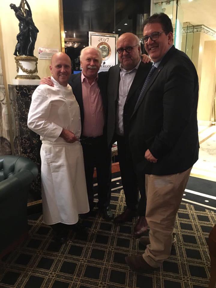 Con Giuseppe Cerasa, Guido Barendson, Heinz Beck