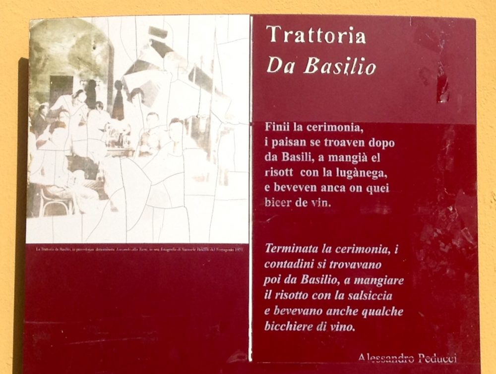 Da Basilio, Vimercate, la targa
