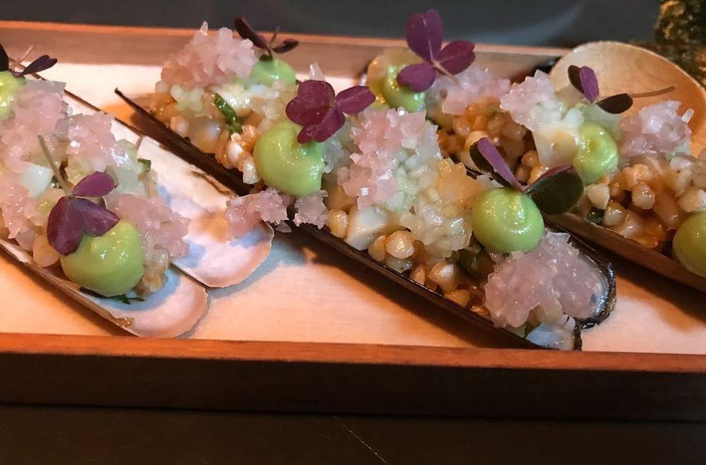 Shibumi - Razor Clams, Smoked Avocado, Yuzu Kosho, Buckwheat