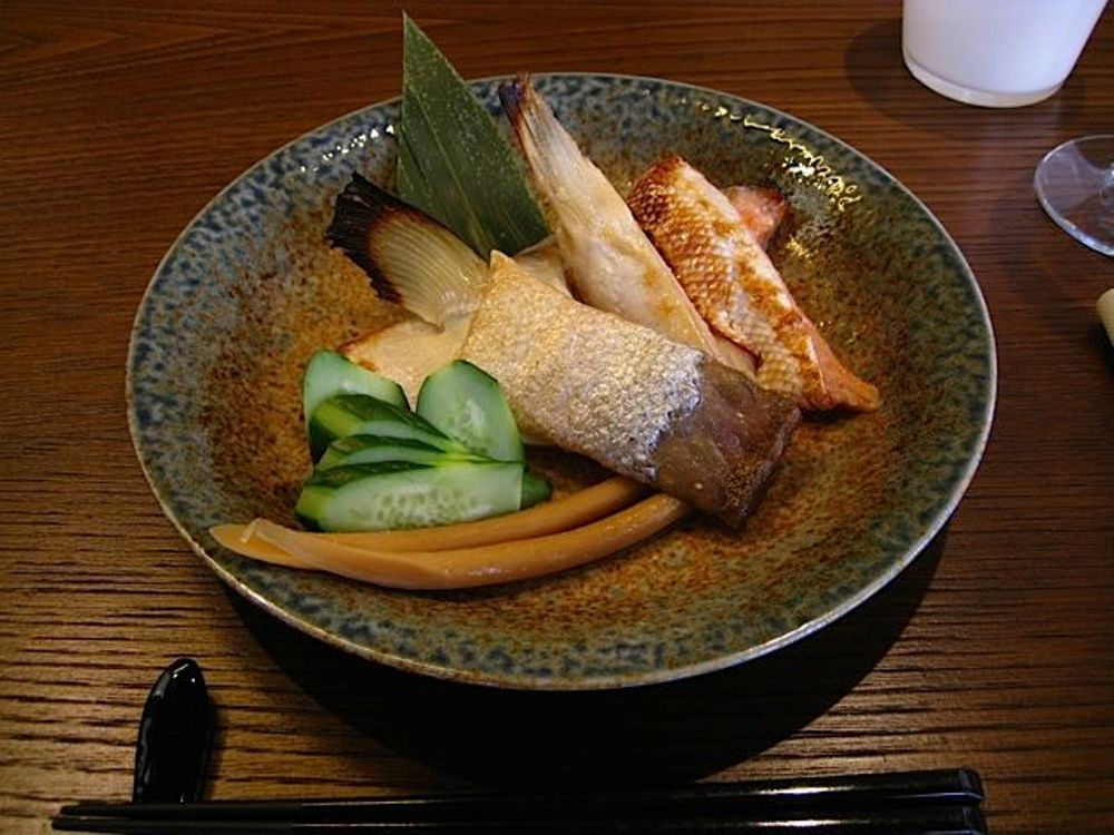 Sushiteca O-Ma-Ca'-Se' Ganascino Di Salmone Marinato allo Shio-Koji