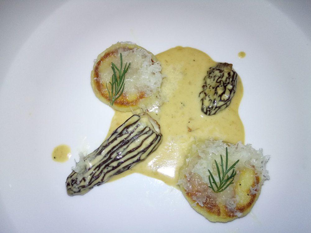 La Locanda del Notaio - Gnocchi di patate arrosto, morchelle al vin jaune e ricotta di pecora stagionata
