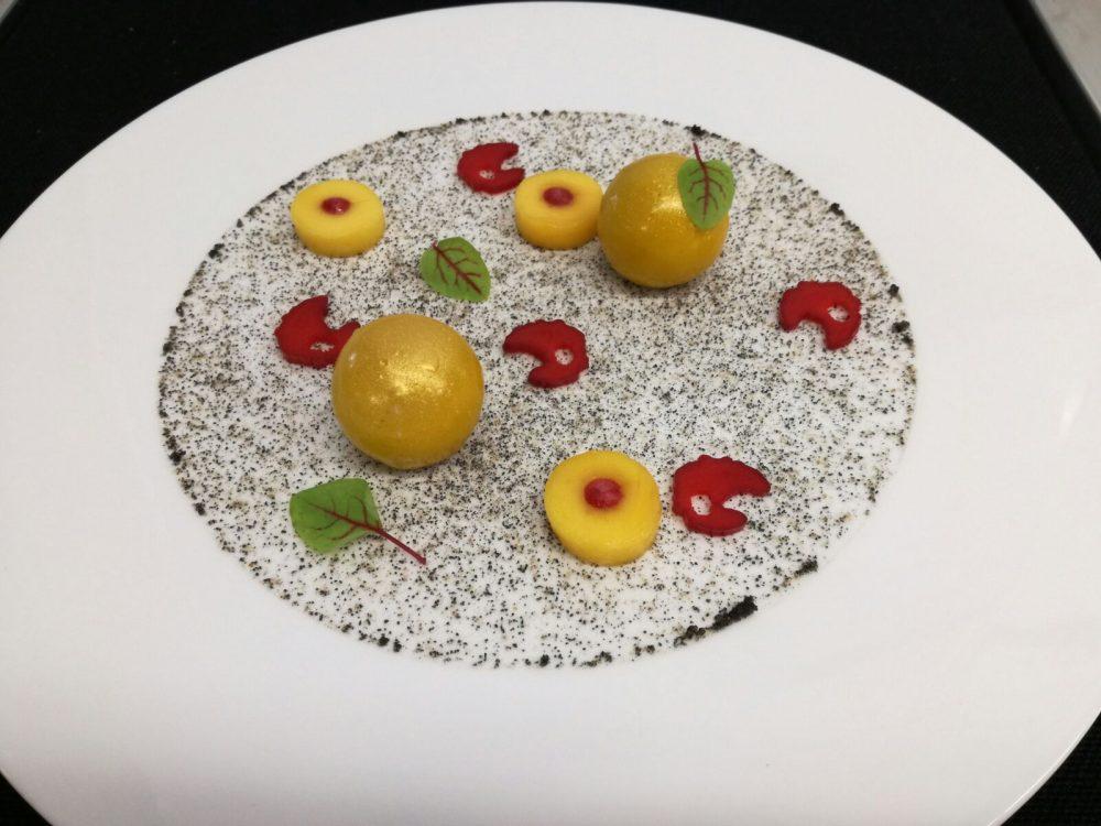 La Locanda del Notaio - Terrina di foie gras d'anatra, mango e rabarbaro
