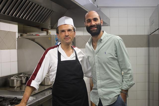 Lo chef Terenzio e Michele Bronzini