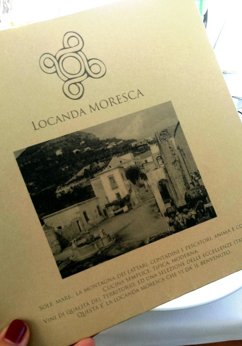 Locanda Moresca, menu'